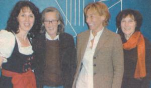 Helga Hämmerle, Elisabeth Majehenic, Andrea Sieber und Brunhilde Fend in der Vortragspause (v. l.)