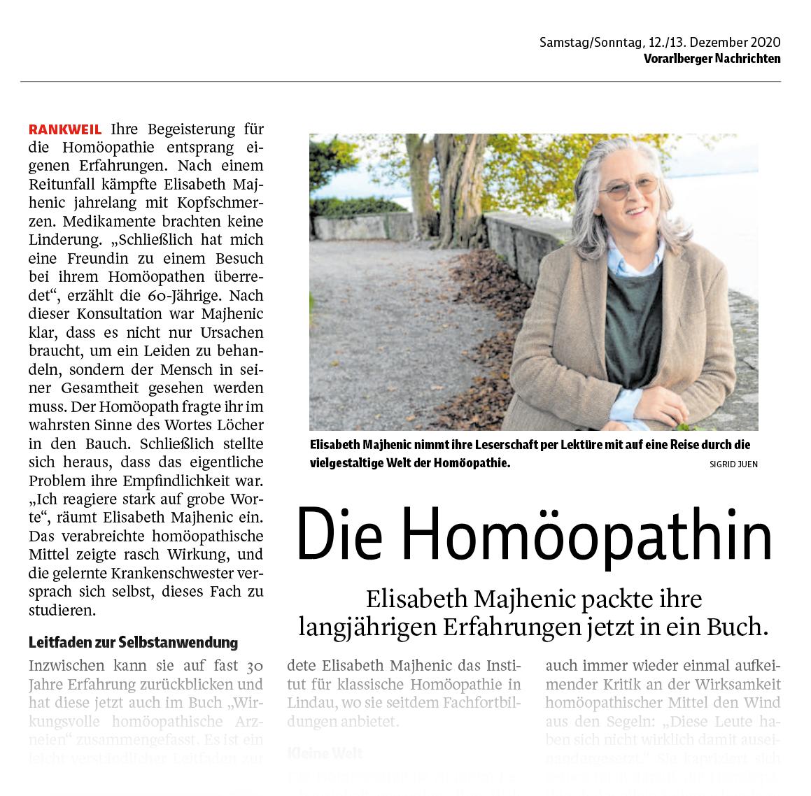 Elisabeth Majhenic packt ihre langjährige Homöopathie-Erfahrung jetzt in ein Buch.